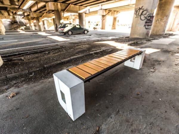 Ławka parkowa Roma Prestige bez oparcia