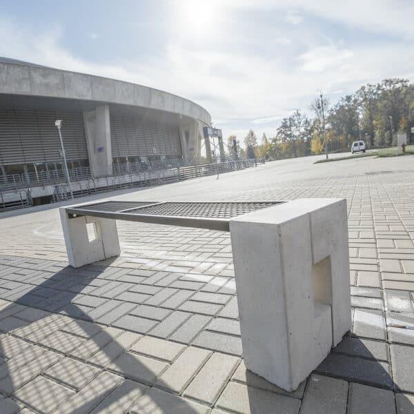 Ławka parkowa Roma Solid bez oparcia